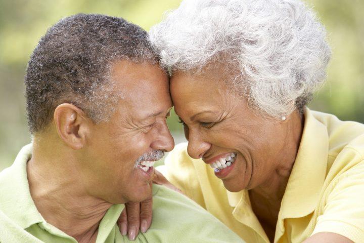 happy afro couple