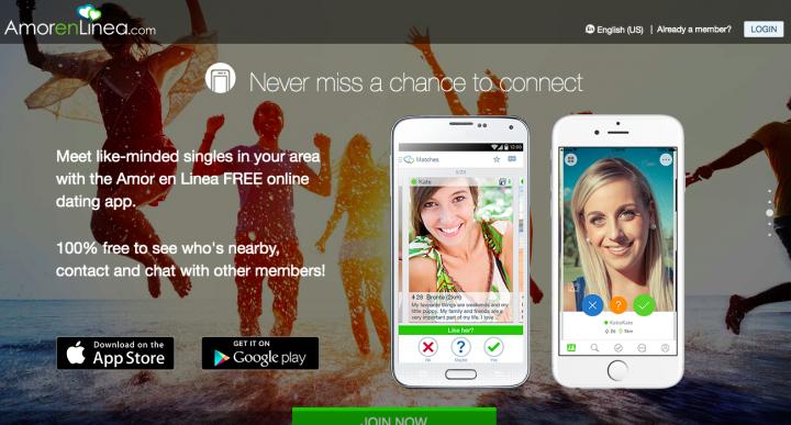 mobile app AmorenLinea