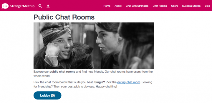 public chat room StrangerMeetup