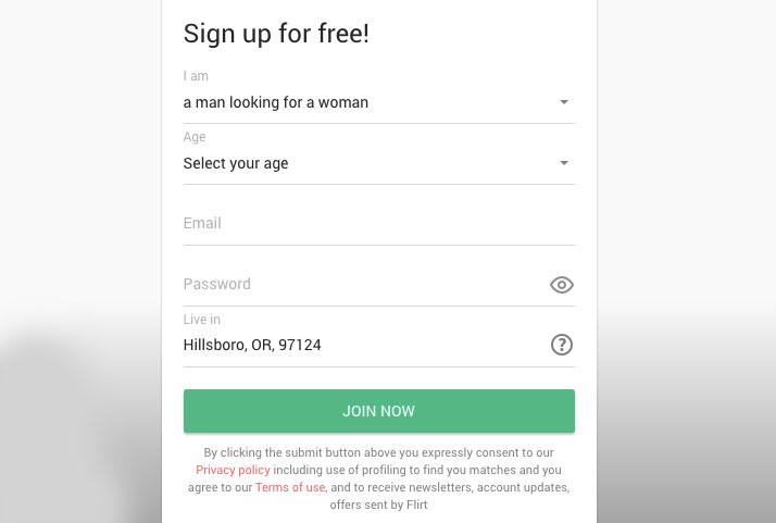 registration Flirt.com