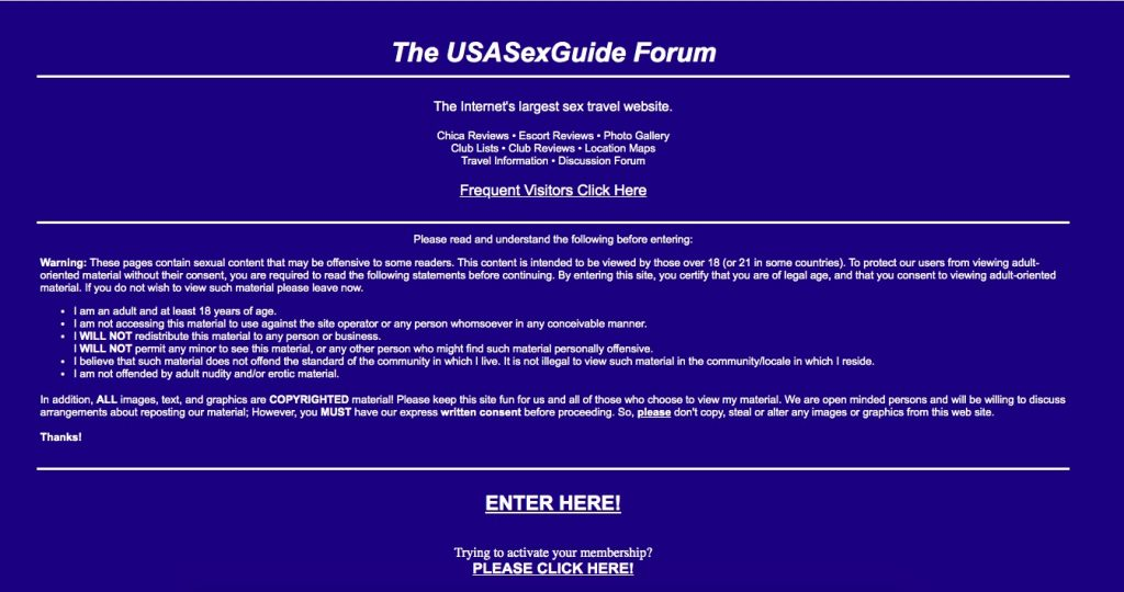 UsaSexGuide main page